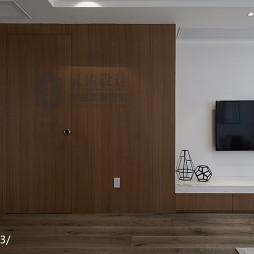 简约风格客厅整体电视柜设计