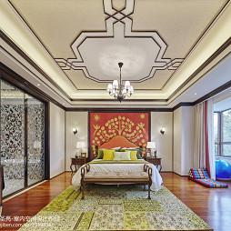 雅致中式别墅卧室装修