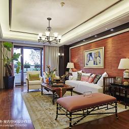 古典中式别墅客厅沙发背景墙