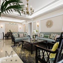 浪漫美式客厅装饰图