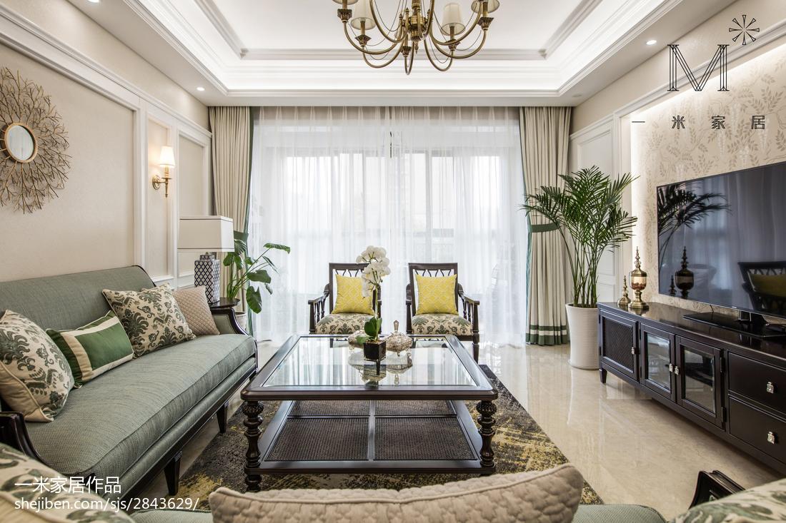 美式客厅布艺窗帘
