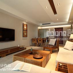 素净中式风格客厅装修