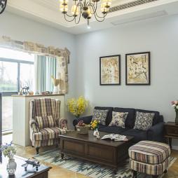 美式田园风格客厅布艺沙发