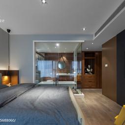 现代风格主卧室带卫浴