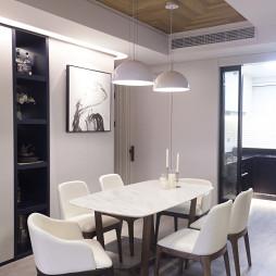 现代风格白色餐厅吊顶装修