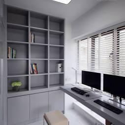 灰白简约风格书房设计