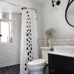 北歐風格衛浴浴簾裝修