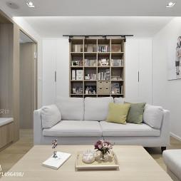 简约风格客厅书柜设计