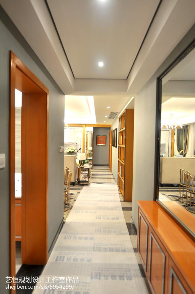 现代风格样板房过道装修