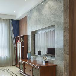 大气中式电视背景墙设计