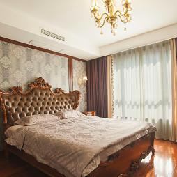 家装中式卧室床