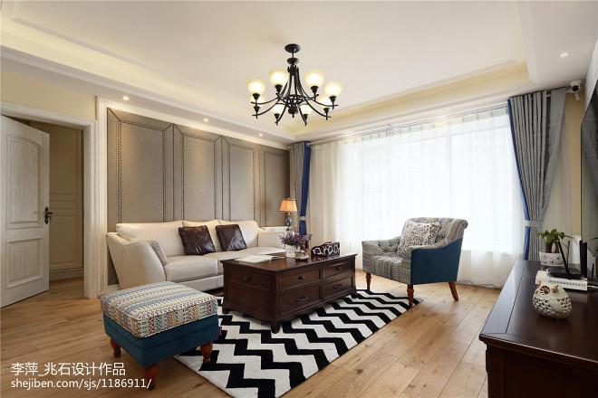 简约美式客厅装修案例