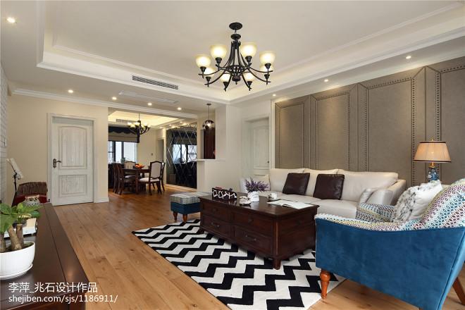 宽敞美式客厅设计