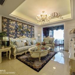 温馨简欧风格客厅设计