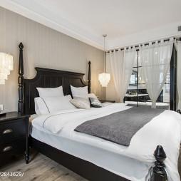 美式公寓卧室装饰图