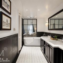 美式公寓卫浴效果图