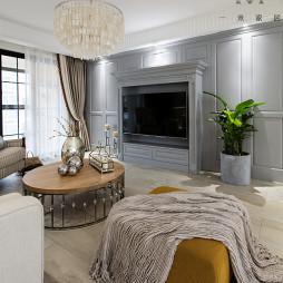 美式公寓电视背景墙设计