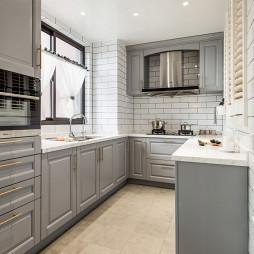 美式公寓厨房效果图