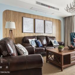 简美风客厅沙发背景墙设计