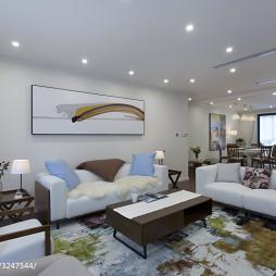 简约风格公寓沙发背景墙