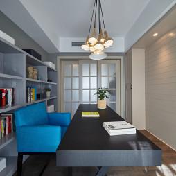 柔和混搭风格书房设计