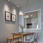 89㎡北欧清新风,厨房与餐厅之间的一扇窗让房子多了一处景_2641324