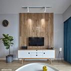 北欧清新风实木背景墙设计