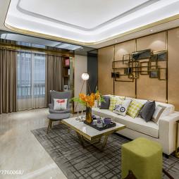 现代风格样板间客厅设计