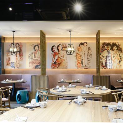 上海新天地餐厅墙面手绘