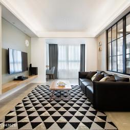 北欧风格客厅地毯装饰