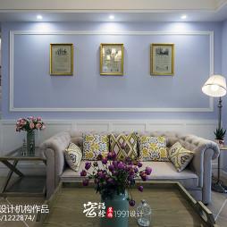 精美法式风格沙发背景墙