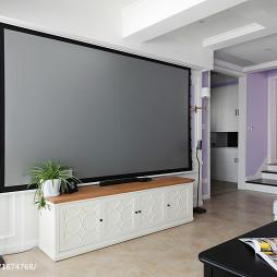 美式客厅电视柜设计