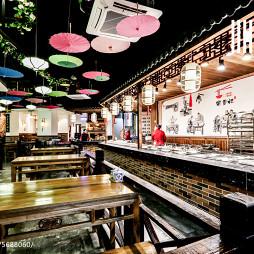 中国风快餐厅就餐区设计