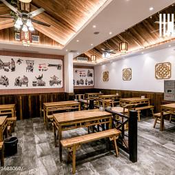 中国风快餐厅天花板设计