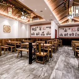 中国风快餐厅阁楼装修