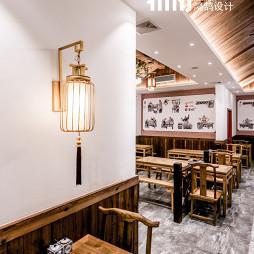 中国风快餐厅吊灯装修