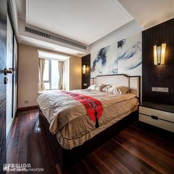新中式卧室图