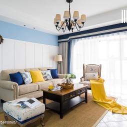 美式沙发背景墙效果图
