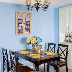 家居餐廳藍色墻漆