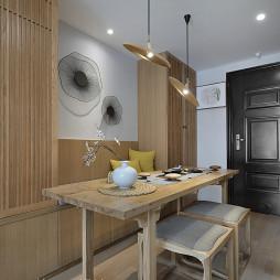 中式餐厅原木家具