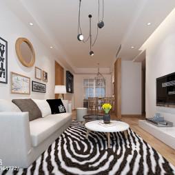 现代客厅精装效果图