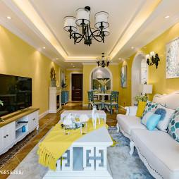 地中海风格样板间客厅装修