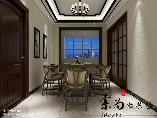 开阳小区新中式大厅_2659891