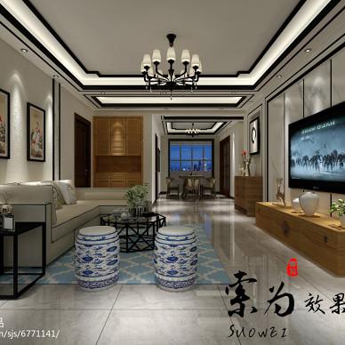 开阳小区新中式大厅_2659892