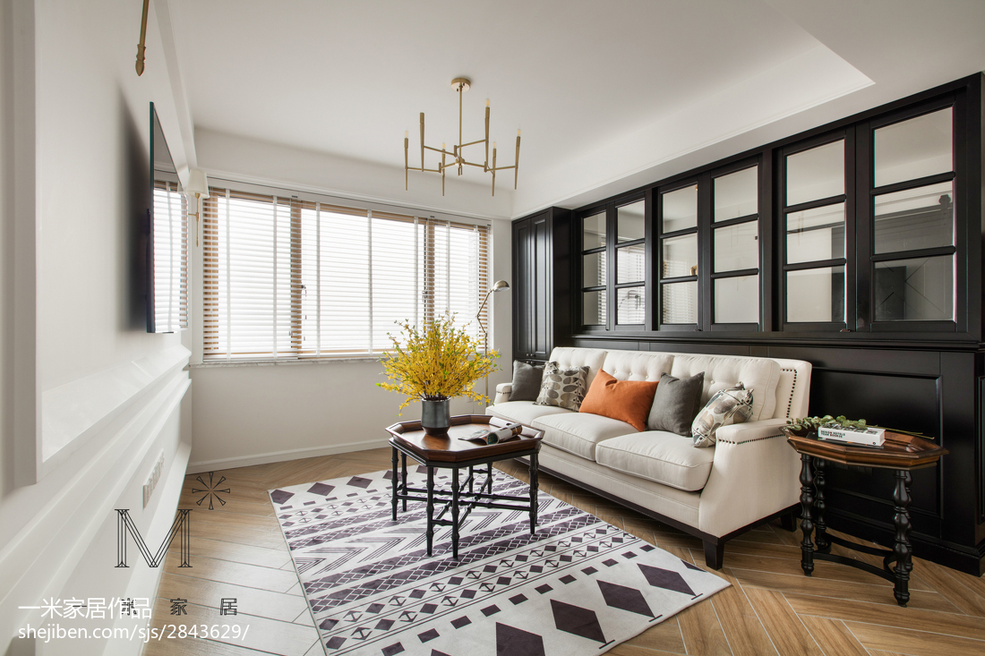 美式客厅沙发图片