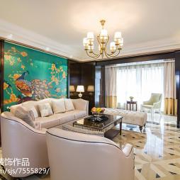 欧式风格沙发背景墙