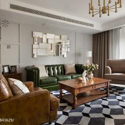 混搭风格客厅沙发背景墙
