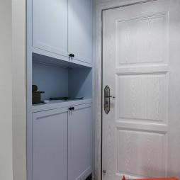 清新蓝色玄关墙柜