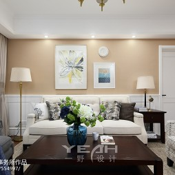 美式沙发背景墙装修效果图