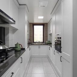 纯白美式厨房